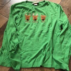 Reindeer Long Sleeve Shirt Petite Medium